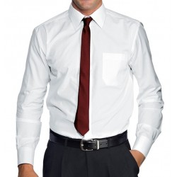 Corbata low cost burdeos liso intenso